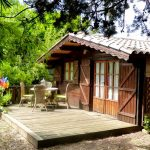 Chalet Bambou vu de l'extérieur chez Zazen en Provence location zen
