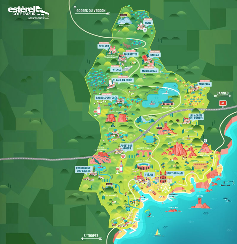 carte pays du canton de Fayance